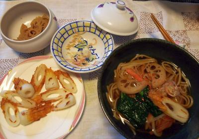 DSC_4275_1008昼-レンコンと小松菜の蕎麦、ちくわ、ミョウガ_400.jpg