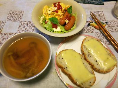 DSC_4297_1011朝-チーズトースト、ソーセージと卵、サラダ、スープ_400.jpg