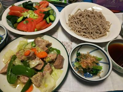 DSC_4403_1019夜-ポークソテーレモン風味、小松菜おひたし、サラダ、蕎麦_400.jpg