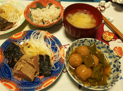 DSC_4493_1026夜-かつおたたき、甘酢肉団子、大根みそ汁、雑穀ご飯_400.jpg