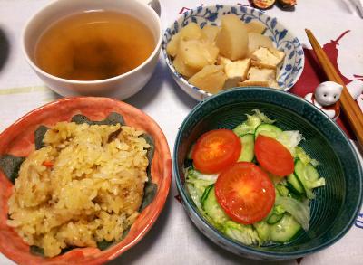 DSC_4600_1107夜-サンマオレンジご飯、サラダ、煮物、スープ_400.jpg