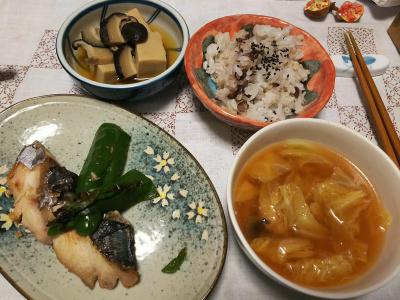 DSC_4642_1111夜-サワラ焼き、小豆ご飯、トマトスープ、高野豆腐の含め煮_400.jpg