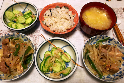DSC_4659_1113夜-チキンモヤシ炒め、キュウリの酢レンコン和え、みそ汁、雑穀ご飯_400.jpg