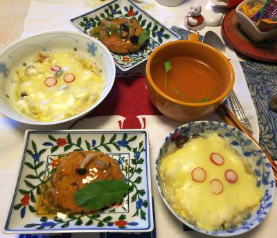 DSC_5368_1231昼-ラディッシュのっけチーズドリア、豆腐ハンバーグ、スープ_400.jpg