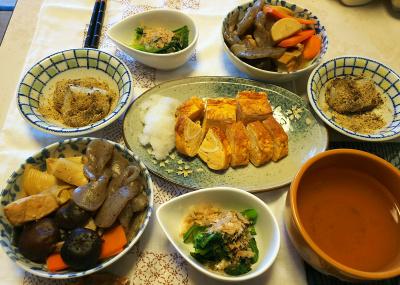 DSC_5635_0122昼-煮物、卵焼き大根おろし、小松菜、きなこもち、スープ_400.jpg