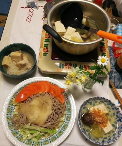DSC_5710_0201夜-湯豆腐、しらたきと高野豆腐の煮物、サラダ蕎麦_400.jpg