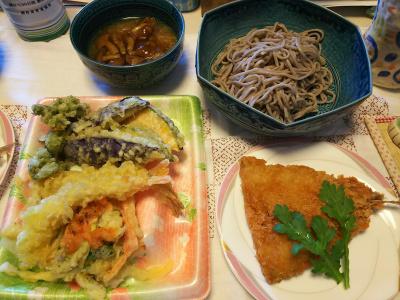 DSC_5988_0302昼-なめこおろし蕎麦、天ぷら盛り合わせ、アジフライ採れたて春菊_400.jpg