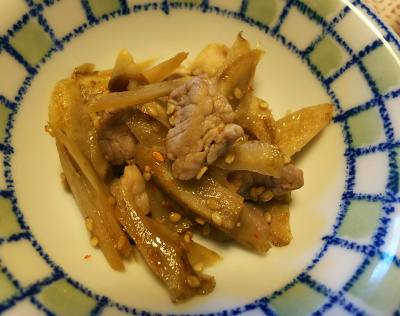 DSC_6432_0409昼-ゴボウと豚の甘辛煮_400.jpg