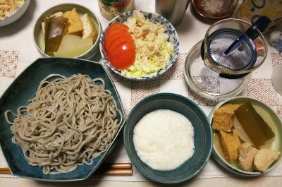 DSC_6435_0409夜-とろろそば、鶏と厚揚げと大根の煮物、トマトとポテトサラダ_400.jpg