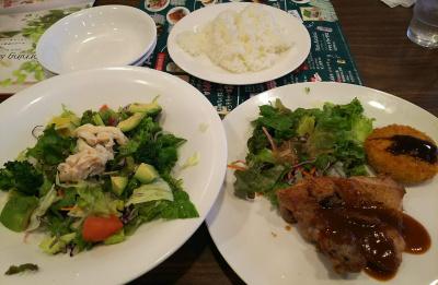 DSC_6489_0417昼・外食・ジョナサン-チキングリルとメンチカツセット、アボカドサラダ_400.jpg