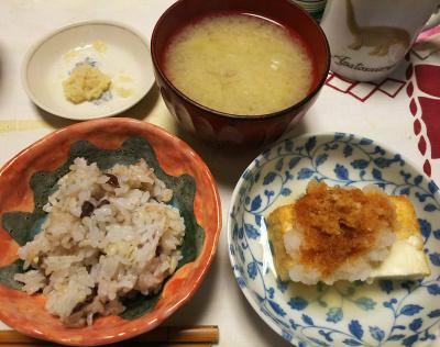 DSC_6716_0430夜-厚揚げに大根おろし、小豆ご飯、味噌汁_400.jpg