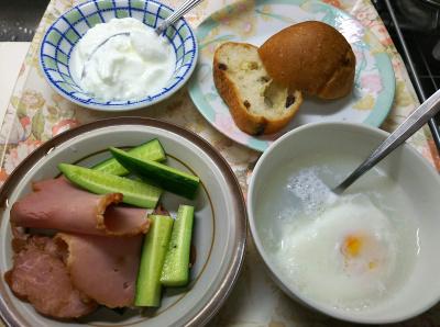 DSC_6795_0511昼-焼豚とキュウリ、レンジ温卵、ヨーグルト、レーズンパン_400.jpg