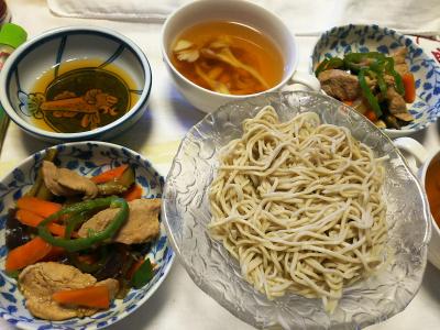 DSC_7595_0630昼-豚と野菜炒め、舞茸スープ、流水麺蕎麦_400.jpg
