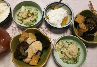 DSC_7614_0702夜-鶏となすと厚揚げの炊合せ、ポテトサラダ、甘夏ヨーグルト_400.jpg