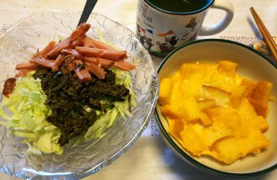 DSC_8602_0917昼-フレンチトースト、茶葉佃煮サラダ_400.jpg