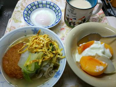 DSC_9123_1024昼-柿ヨーグルト、温泉卵、さつま揚げと白菜と錦糸卵 温流水麺_400.jpg