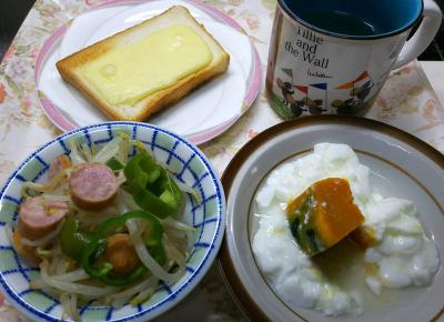 DSC_9436_1114昼-チーズトースト、もやし炒め、かぼちゃヨーグルト_400.jpg