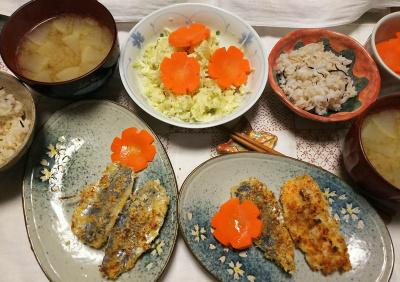 DSC_9847_1209夜-アジフライ、ポテトサラダ、大根味噌汁、雑穀ごはん_400.jpg