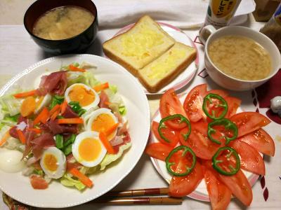 DSC_1138_0111昼-トマト、生ハムゆで卵サラダ、チーズトースト、味噌汁_400.jpg