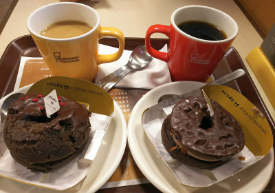 DSC_1176_0116おやつ・ミスド-PIERRE HERMEドーナツ、コーヒーとカフェオレ 美味しいが満腹過ぎ_400.jpg