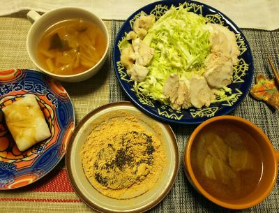 DSC_1334_0203昼-蒸し鶏、キャベツ、スープ、ごまきなこ餅、醤油餅_400.jpg