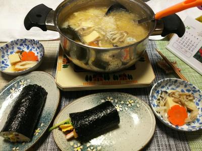 DSC_1343_0203夜-手作り恵方巻、牡蠣とたらの味噌鍋_400.jpg