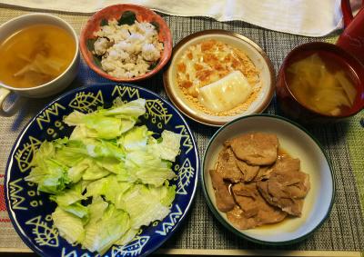 DSC_1269_0206昼-ポークソテー、レタス、スープ、きなこ餅、雑穀ごはん_400.jpg