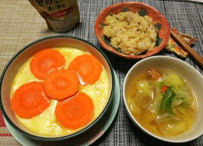 DSC_1149_0209夜-卵チーズ豆腐人参のっけ、白菜スープ、サンマオレンジご飯_400.jpg