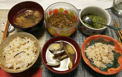 DSC_1526_0217昼-アサリの潮汁、ふき味噌、牛肉ごぼう、雑穀ごはん_400.jpg