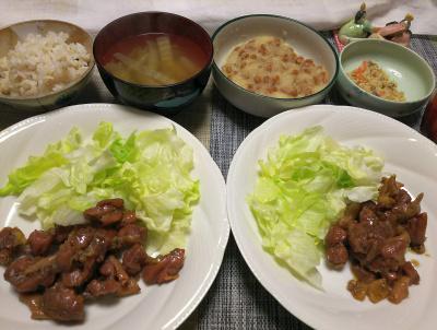 DSC_1772_0302夜-鶏燻製レタス、おろし納豆、スープ、おから、雑穀ごはん_400.jpg
