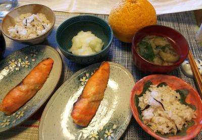 DSC_0067_0312昼-鮭焼き、大根おろし、ナス味噌汁、雑穀ごはん_400.jpg