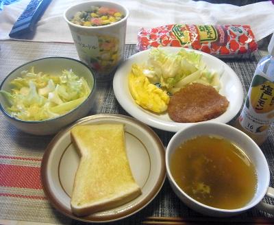 R0017965_0422昼-オムレツ、ハムカツ、セロリとレタスサラダ、スープ、トースト又はカップ麺_400.jpg