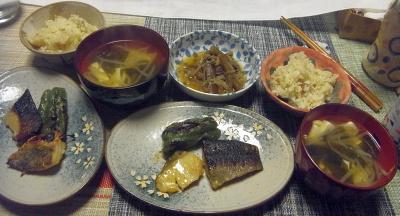 R0017974_0423夜-京粕漬け、肉ごぼう、お吸い物、縄文大豆ご飯_400.jpg