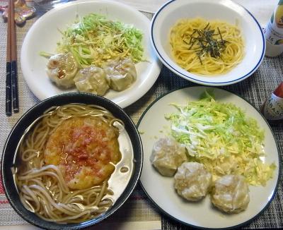 R0018002_0428昼-シュウマイとキャベツ、天ぷらそば又はたらこスパゲティ_400.jpg