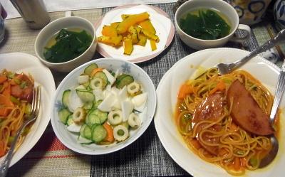 R0018156_0516昼-フライパンナポリタン風スパゲティ、かぼちゃ焼き、蕪サラダ、蕪の葉スープ_400.jpg