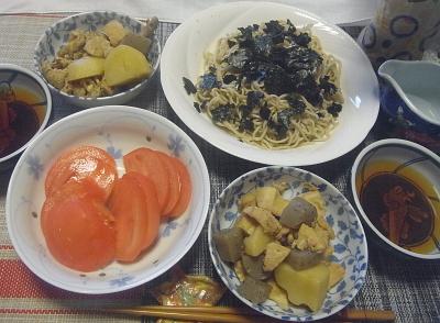 R0018529_0701昼-流水麺蕎麦、海苔、煮物、トマト_400.jpg