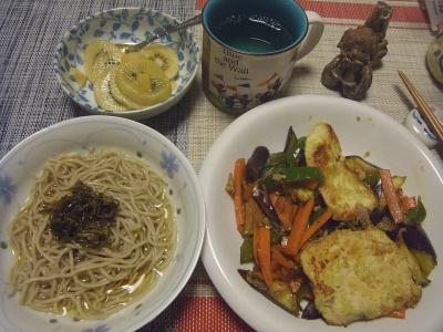 R0019054_0826夜-チキンカツレット、野菜炒め、海苔流水麺蕎麦、キーウィ_400.jpg