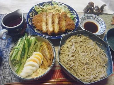 R0019396_0927昼-とんかつ、流水麺蕎麦、ゆで卵と煮揚ときゅうり_400.jpg