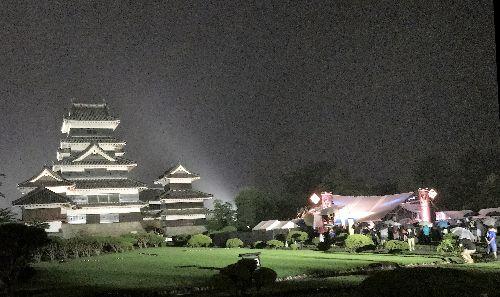 雨の太鼓祭り