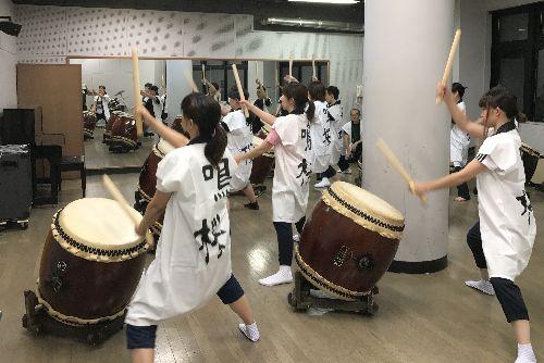 松本市和太鼓鳴桜(なを)練習