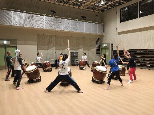 松本市和太鼓鳴桜(なを)の練習風景