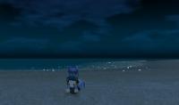 一人で見る夜の海