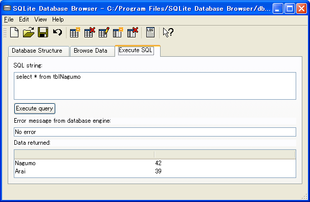 SQLite Database Browser3