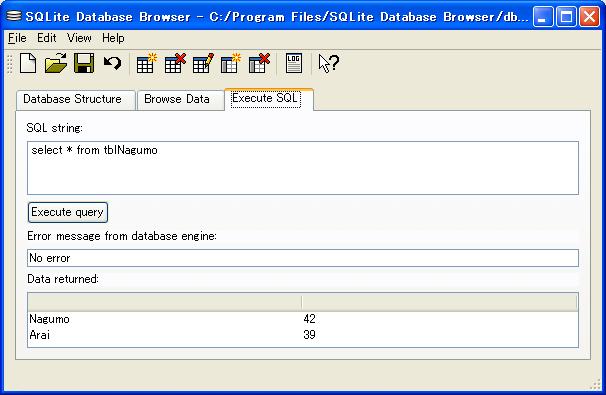 SQLite Database Browser3