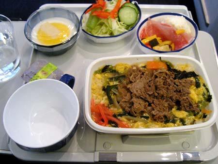 機内食JALミラノ線