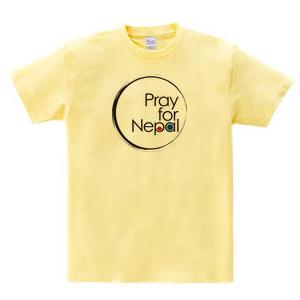 pray for nepal circle イエロー