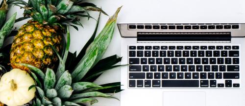 パイナップルとMacBook