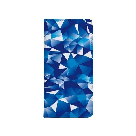 ポリゴン・ブルー 手帳型