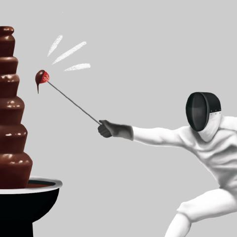 フェンサーとチョコレートフォンデュ 詳細