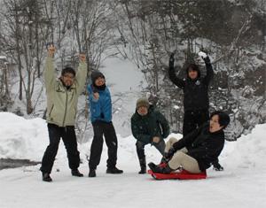 雪じゃ〜!!